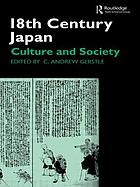 18th century Japan : culture and society