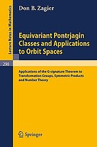 Equivariant Pontrjagin classes and applications to orbit spaces; applications of the G-signature theorem to transformation groups, symmetric products and number theory.