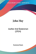 John Hay, author and statesman,