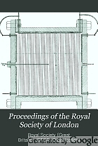 Proceedings of the Royal Society of London. Series A, Containing papers of a mathematical and physical character.