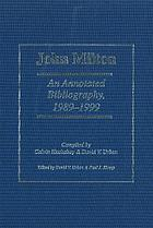 John Milton : an annotated bibliography, 1989-1999