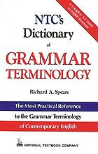 NTC's dictionary of grammar terminology