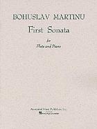 First sonata for flute and piano