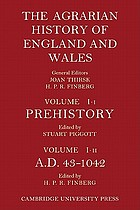 The Agrarian history of England and Wales; general editor, H.P.R. Finberg.