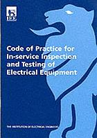 Code of practice for in-service inspection and testing of electrical equipment.