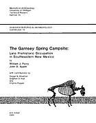 The Garnsey Spring campsite : late prehistoric occupation in southeastern New Mexico