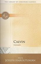 Calvin : commentaries