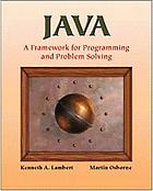 CD to accompany Java, a framework for programming and problem solving
