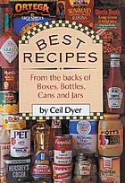 Best recipes : from the backs of boxes, bottles, cans and jars