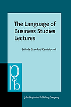 The language of business studies lectures : a corpus-assisted analysis