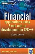 Financial applications using Excel add-in development in C/C++