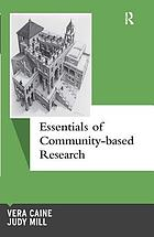 Essentials of community-based research