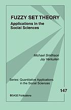 Fuzzy Set Theory: Applications in the Social Sciences cover image