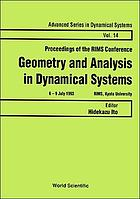 Proceedings of the RIMS conference, geometry and analysis in dynamical systems : 6-9 July 1993, RIMS, Kyoto University