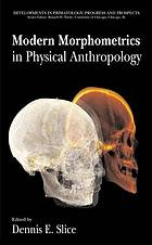 Modern Morphometrics in Physical Anthropology cover image