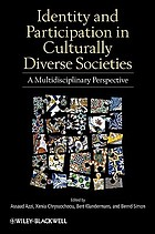 Identity and participation in culturally diverse societies : a multidisciplinary perspective