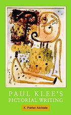 Paul Klee's pictorial writing