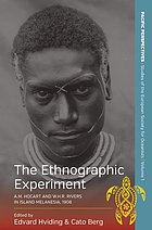 The ethnographic experiment : A.M. Hocart and W.H.R. Rivers in island Melanesia, 1908