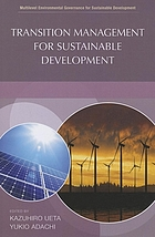 Transition management for sustainable development