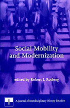 Social mobility and modernization : a Journal of interdisciplinary history reader