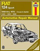 Fiat 124 Sport automotive repair manual