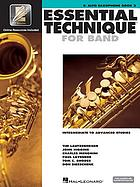 Essential technique 2000/ 3,10,asax, E♭ alto saxophone.