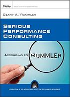 Serious performance consulting : according to Rummler