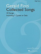 Collected songs : 44 songs, including 7 cycles or sets
