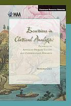 Excursions in classical analysis : pathways to advanced problem solving and undergraduate research