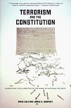 Terrorism and the constitution : sacrificing civil liberties in the name of national security