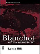 Blanchot, extreme contemporary