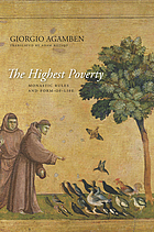 The highest poverty : monastic rules and form-of-life