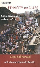Ethnicity and class : social divisions in an Indian city