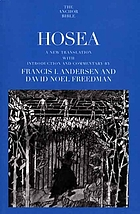 Hosea : a new translation with introduction and commentary
