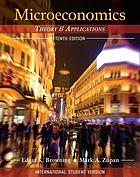 Microeconomics : theory & applications