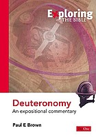 Deuteronomy : an expositional commentary