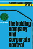 The holding company and corporate control