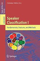 Speaker classification