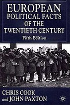 European political facts of the twentieth century