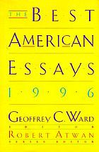 The Best American Essays, 1996