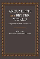 Arguments for a better world : essays in honor of Amartya Sen