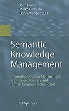 Semantic knowledge management : integrating ontology management, knowledge discovery, and human language technologies