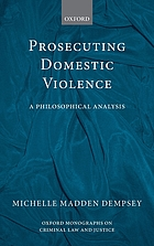Prosecuting Domestic Violence: A Philosophical Analysis cover image