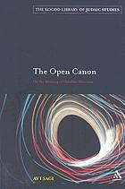 The open canon : on the meaning of halakhic discourse