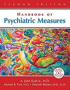 Handbook of Psychiatric Measures cover image