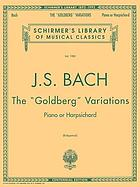 The Goldberg variations : piano or harpsichord