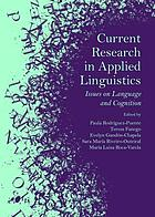 Current research in applied linguistics : issues on language and cognition