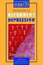 Treatment of recurrent depression