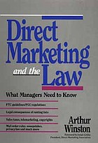 Direct marketing and the law : what managers need to know