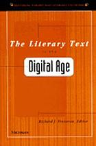 The literary text in the digital age